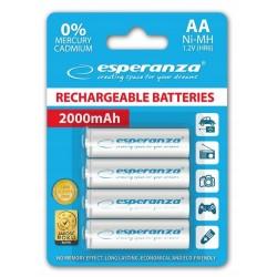 Esperanza - NiMH akumulatory typu R6 - AA -  2000mAh - 4 sztuki
