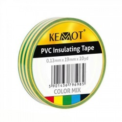 Taśma izolacyjna KEMOT 0,13x19x10Y żółto/zielona