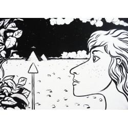 Obraz Baba Joga, 2011, akryl, 50 x 70 cm