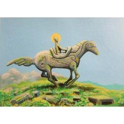Obraz Festina lente IV, akryl, papier akrwarelowy, 30x40 cm, 2019