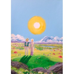 Obraz Ku Dobrowieczności, reprodukcja wydruk na płótnie, 70 x 50 cm, 2019