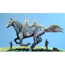 Obraz Naprzód w przeszłość, akryl, 60 x100 cm, 2020