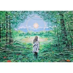 Obraz Ostoja, akryl, 50 x 70 cm, 2021