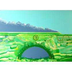 Obraz Pociąg do abstrakcji, 2015, akryl, 100 x 140 cm