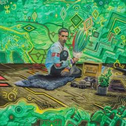 Obraz Zródło, 70 x 70 cm, reprodukcja wydruk na płótnie, 2019