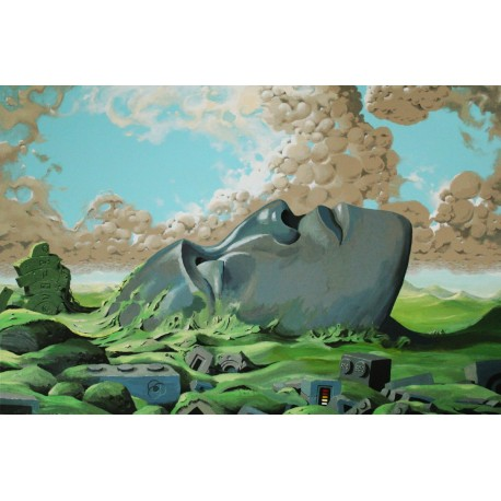Obraz Rigpa, reprodukcja wydruk na płótnie, 60 x 90 cm, 2010