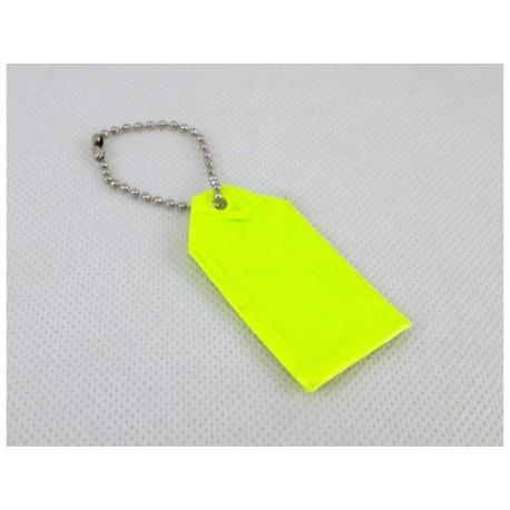 Przywieszka do plecaka z łańcuszkiem odblask neon