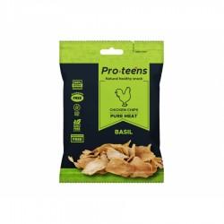 Chipsy z kurczaka Merzdorf Proteens Chicken Chips 15 g bazylia