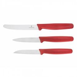 Zestaw 3 noży Victorinox 5.1111.3 (czerwony)
