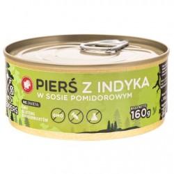 Filet z Piersi Indyka w sosie pomidorowym 160g.